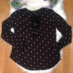 Lucky Brand Cold Shoulder NWT Knit Tassel Top Med